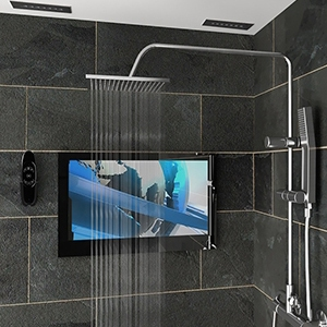 Ocea Pro Bathroom TV installed in a shower room