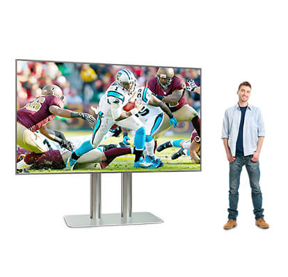 Cinema Smart TV with a male model