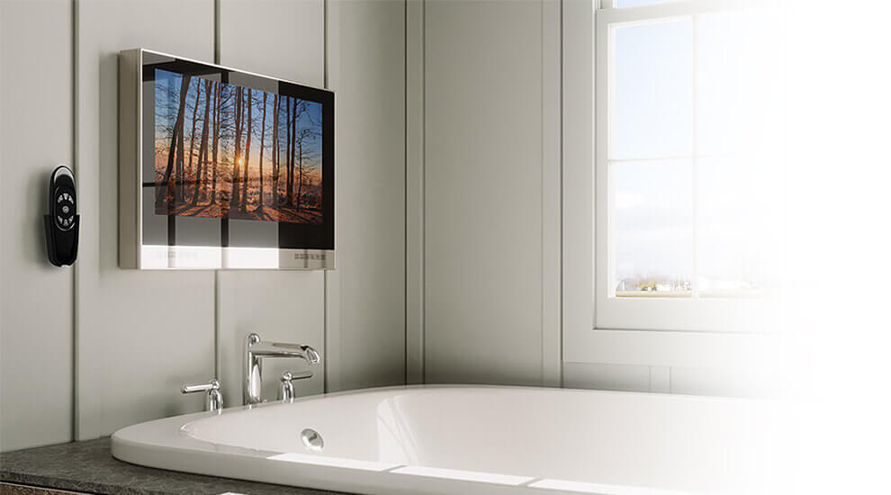 Putting a waterproof television in the bathroom leaves you open to change